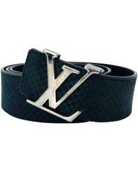27f7c6870b45 Louis Vuitton - Pre-owned Vintage Black Leather Belts - Lyst
