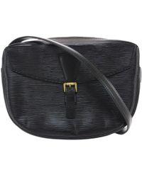 2da29de4caf82 Louis Vuitton - Vintage Black Leather Handbag - Lyst