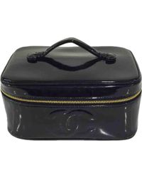 Chanel - Pre-owned Patent Leather Vanity Case - Lyst