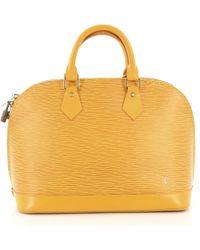 c5ccea508e8b Lyst - Louis Vuitton Vernis Alma Bb 2 Way Shoulder Bag Blue Lagon M ...