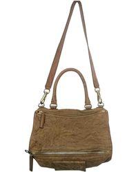 084b5e2361 Givenchy - Pandora Camel Leather Handbag - Lyst