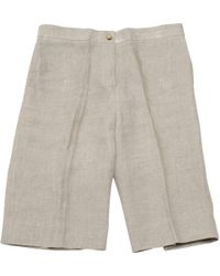 Céline | Pre-owned Beige Cloth Shorts | Lyst