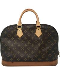c15940383d86 Lyst - Louis Vuitton Monogram Canvas Alma Tote Bag Handbag Brown ...