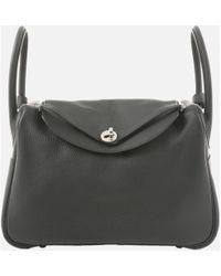 Hermès - Pre-owned Lindy Black Leather Handbags - Lyst