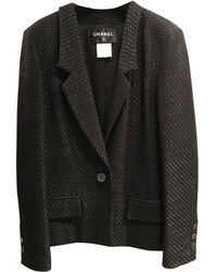 Chanel - Black Cotton Jacket - Lyst