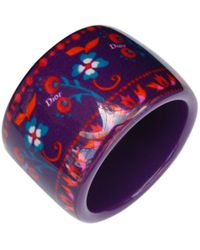 Dior - Purple Plastic Bracelet - Lyst