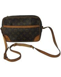 Louis Vuitton - Pre-owned Vintage Trocadéro Brown Leather Handbags - Lyst