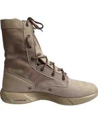 Nike - Beige Suede Boots - Lyst