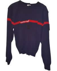 Vetements - Navy Wool Knitwear - Lyst