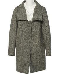 Chloé - Pre-owned Grey Wool Coats - Lyst