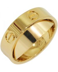 Cartier - Love Yellow Yellow Gold Ring - Lyst