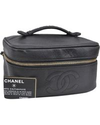 3164f9aa57fd31 Chanel Vanity Hand Bag Enamel Black Vintage A01998 90038436.. in ...