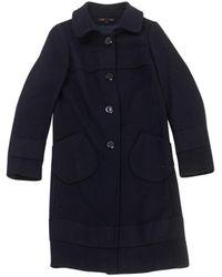 Maje - Blue Wool Coats - Lyst