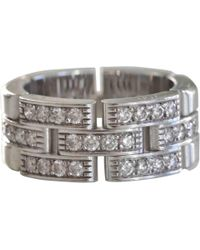 Cartier - Maillon Panthère Silver White Gold Ring - Lyst