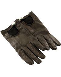 BVLGARI - Black Leather Gloves - Lyst