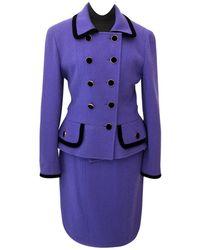 Chanel - Pre-owned Vintage Purple Wool Jackets - Lyst