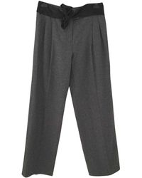 Lanvin - Pre-owned Wool Large Trousers - Lyst