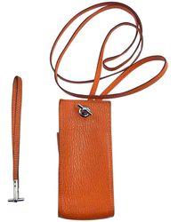 Hermès - Pre-owned Orange Leather Purses, Wallets & Cases - Lyst