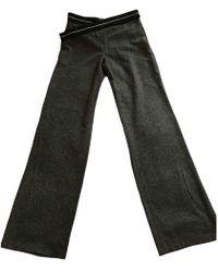 Loewe - Grey Wool Trousers - Lyst