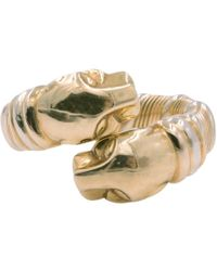 Cartier - Pre-owned Vintage Panthère Gold Yellow Gold Rings - Lyst