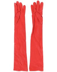 Givenchy - Pre-owned Red Leather Gloves - Lyst