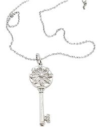 Tiffany & Co. - Clés Tiffany White Gold Pendant - Lyst