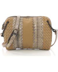 de9fd99acb Lyst - Bottega Veneta Vintage Intrecciato Shoulder Bag Gold in Metallic