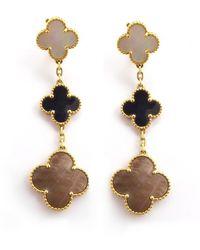 Van Cleef & Arpels - Magic Alhambra Yellow Gold Earrings - Lyst