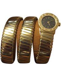 BVLGARI - Yellow Gold Watch - Lyst