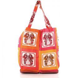 746ffe267197 Hermès Pre-owned Silky Pop Silk Tote in Brown - Lyst