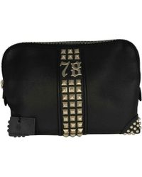 Philipp Plein - Black Leather Small Bag, Wallets & Cases - Lyst