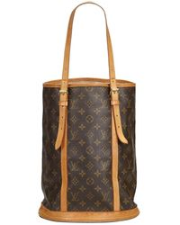 c760856f29a7 Lyst - Louis Vuitton Bucket Cloth Tote in Brown
