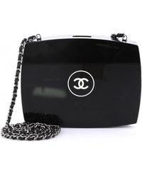 5dd6b45045c5 Pinko Black Transparent Plastic Love Shoulder Bag in Black - Lyst