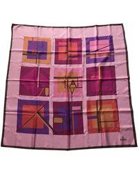 Fendi Pink Silk Scarves