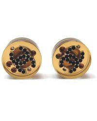 Chanel - Brown Plastic Earrings - Lyst