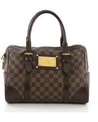Louis Vuitton - Pre-owned Berkeley Brown Cloth Handbags - Lyst