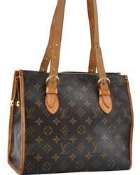 Louis Vuitton - Pre-owned Popincourt Brown Cloth Handbags - Lyst