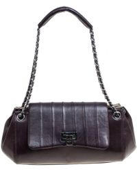 1a480dd09146 Chanel Timeless Patent Leather Handbag in Brown - Lyst