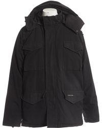 Canada Goose - Black Polyester Coat - Lyst