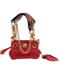 b236eec65adc Vivienne Westwood - Pre-owned Red Leather Handbags - Lyst