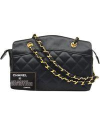 1e8defecc248 Vestiaire Collective · Chanel - Pre-owned Vintage Black Silk Handbag - Lyst