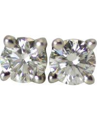 Tiffany & Co. - Silver Platinum Earrings - Lyst