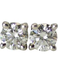 aa443152f Elizabeth Cole Woman Silver-tone, Faux Pearl And Crystal Hoop Earrings  Platinum in Metallic - Lyst