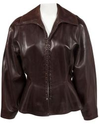 Alaïa - Pre-owned Leather Jacket - Lyst