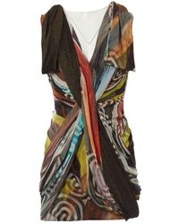 Matthew Williamson Multicolor Silk Dress - Black