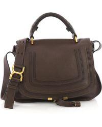 Chloé - Marcie Brown Leather Handbag - Lyst