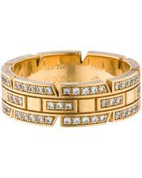Cartier - Tank Française Yellow Gold Ring - Lyst