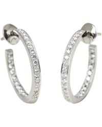 Cartier - White Gold Earrings - Lyst