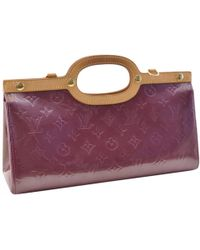 4c98d151f584 Lyst - Louis Vuitton Pre-owned Purple Patent Leather Handbag in Purple