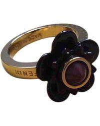 Fendi - Gold Metal Ring - Lyst